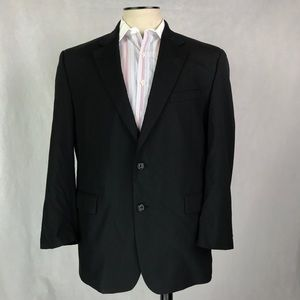 Jos. A. Bank. 44R Sport Coat Blazer Black Wool